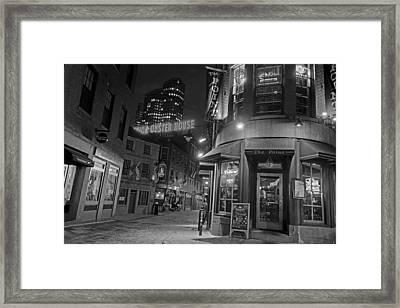 The Point Marshall Street Boston Ma Black And White Framed Print by Toby McGuire
