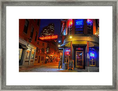 The Point Marshall Street Boston Ma Framed Print