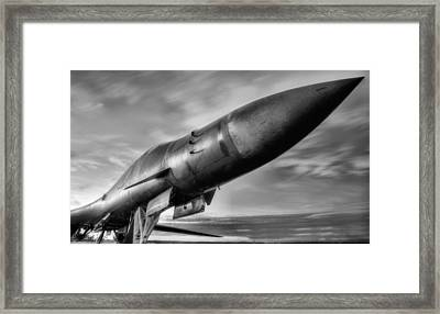 The Pointy End Black And White Framed Print by JC Findley
