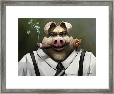 The Poker Face Framed Print