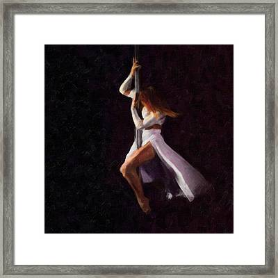 The Pole Dance 3 Framed Print by Tilly Williams