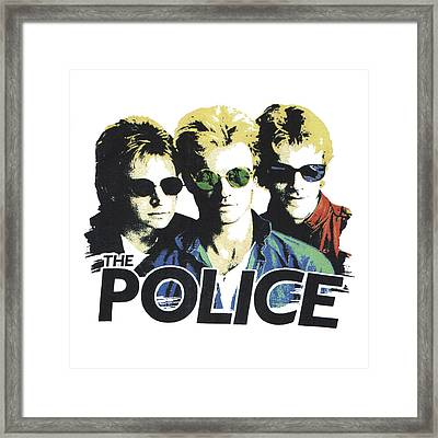 The Police Framed Print by Gina Dsgn