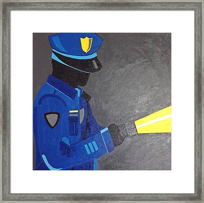 The Police Officer Framed Print by Sarah Jane Thompson