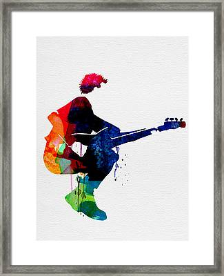 The Police Watercolor Framed Print