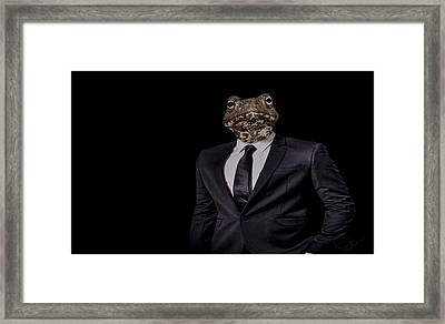 The Politician Framed Print by Paul Neville