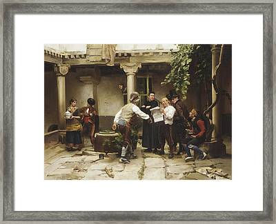 The Politicians Framed Print by Jules Worms