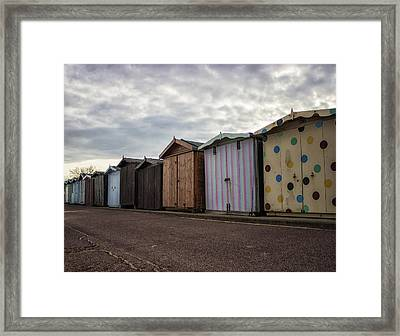The Polka Dot Hut Framed Print by Martin Newman