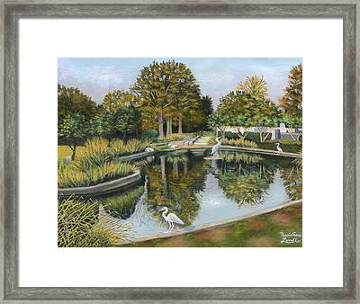 The Pond At Maple Grove Framed Print
