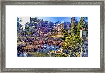 The Pond At Peddler's Village Framed Print