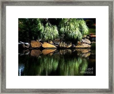 The Pond On Lamplight Lane Framed Print by RC DeWinter