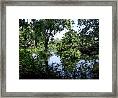 Framed Print featuring the photograph The Pond by Skyler Tipton