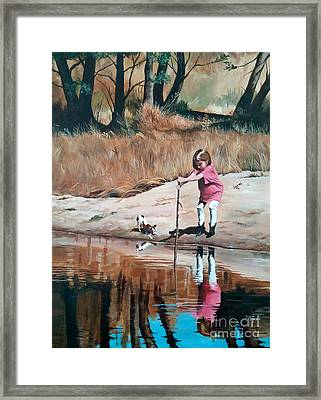 The Pond Framed Print by Suzanne Schaefer