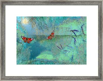 Framed Print featuring the painting The Pond by Valerie Anne Kelly