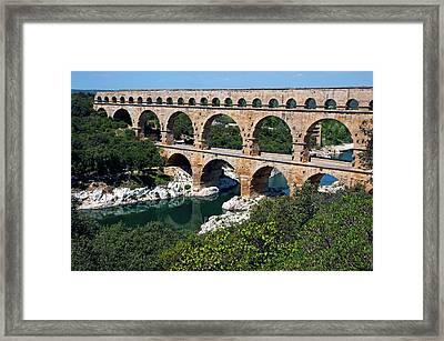 The Pont Du Gard Framed Print by Sami Sarkis