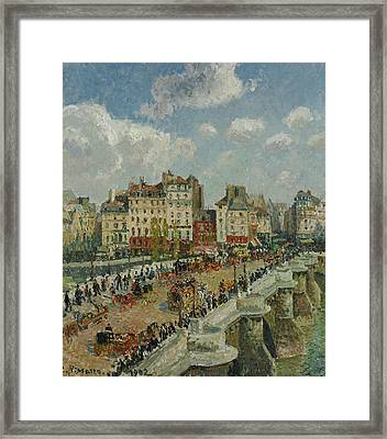The Pont Neuf  Framed Print by Camille Pissarro
