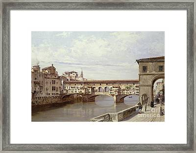 The Pontevecchio - Florence  Framed Print