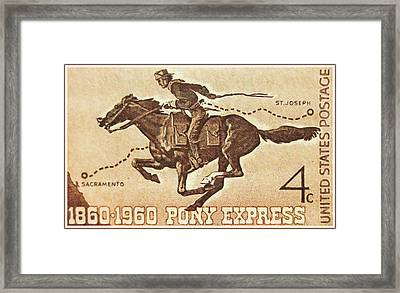 The Pony Express Centennial Stamp Framed Print