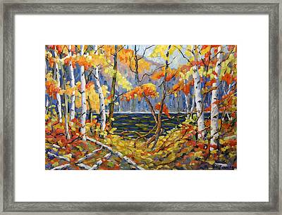 The Pool After Thompson By Prankearts Framed Print by Richard T Pranke