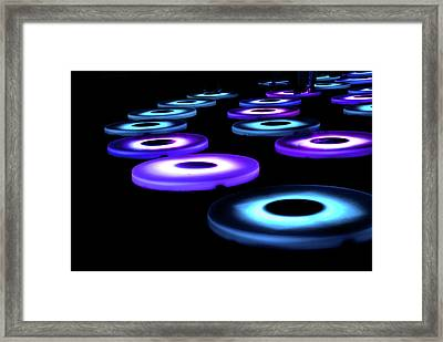Framed Print featuring the photograph The Pool Circles by Mark Dodd