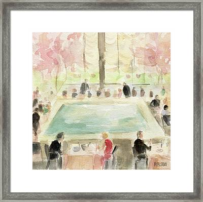 The Pool Room At The Four Seasons New York Framed Print by Beverly Brown