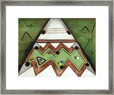The Pool Shark Art Print Framed Print by Tommervik