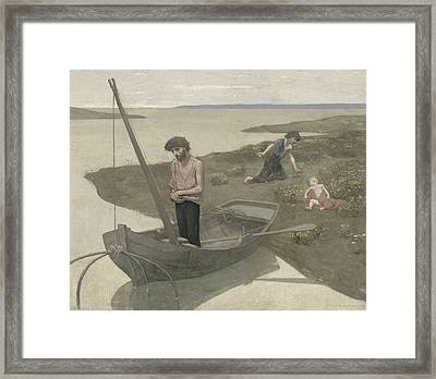 The Poor Fisherman Framed Print by Pierre Puvis de Chavannes