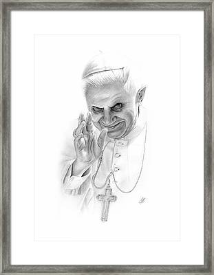 The Pope Framed Print by Christian Klute