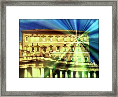 The Pope's Window Framed Print by Jen White