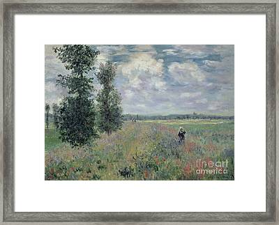 The Poppy Field Framed Print by Claude Monet
