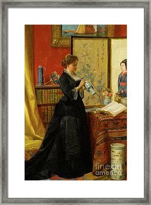 The Porcelain Collector Framed Print