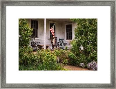 The Porch Framed Print by Robin-Lee Vieira