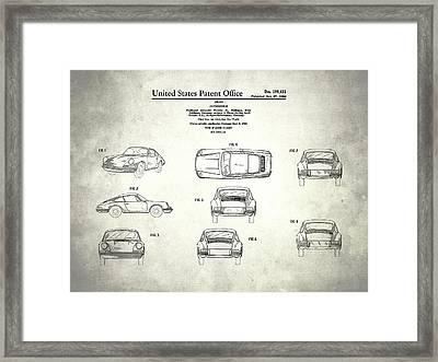 The Porsche 911 Patent Framed Print by Mark Rogan
