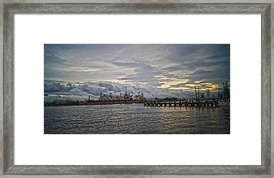 The Port Framed Print by Chauncy Holmes
