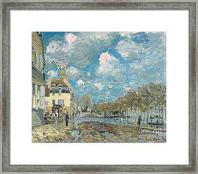 the Port-Marly Framed Print by Celestial Images