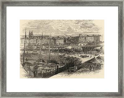 The Port Of Barcelona Spain From The Framed Print