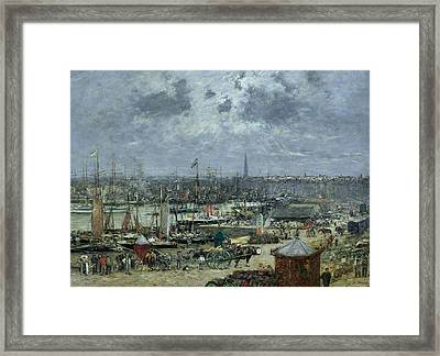 The Port Of Bordeaux Framed Print by Eugene Louis Boudin