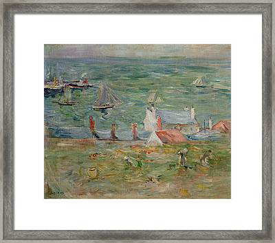 The Port Of Gorey On Jersey Framed Print by Berthe Morisot