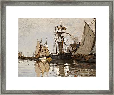 The Port Of Honfleur Framed Print by Claude Monet