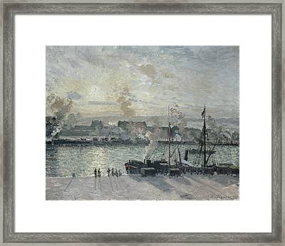 The Port Of Rouen Framed Print by Camille Pissarro