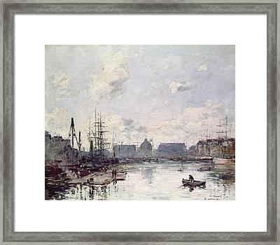 The Port Of Trade Framed Print by Eugene Louis Boudin
