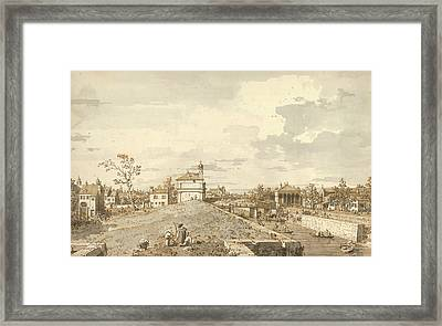 The Porta Portello With The Brenta Canal In Padua Framed Print