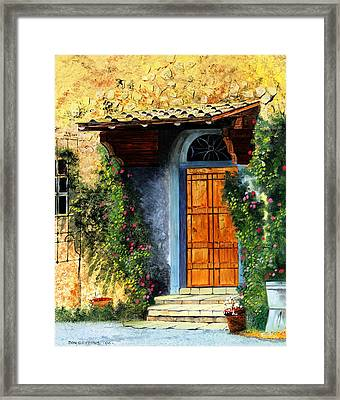 The Portal Framed Print by Don Griffiths