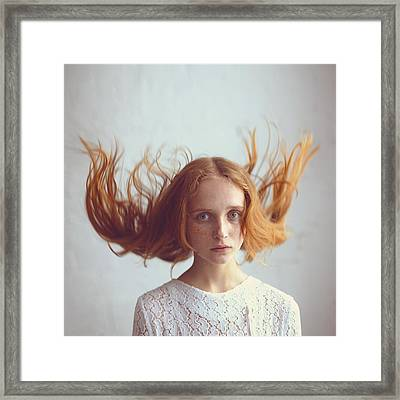 the portrait of Olga Framed Print by Anka Zhuravleva
