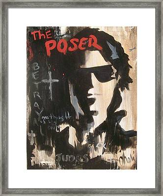 The Poser Framed Print