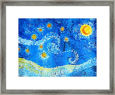 The Positive Elements From Starry Night Framed Print