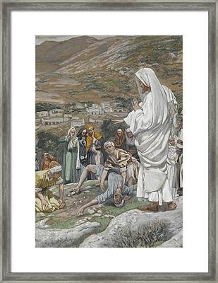 The Possessed Boy At The Foot Of Mount Tabor Framed Print by Tissot