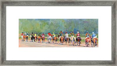 The Post Parade Framed Print