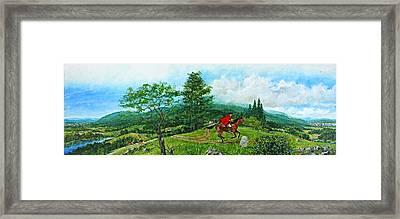 Framed Print featuring the painting The Post Road by Cliff Spohn