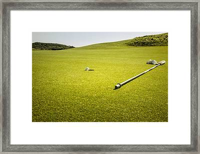 The Postage Stamp - Royal Troon Golf Course Framed Print by Alex Saunders