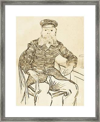The Postman Joseph Roulin Framed Print by Vincent Van Gogh